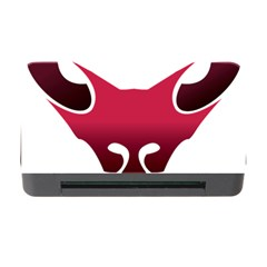 Fox Logo Red Gradient  Memory Card Reader with CF