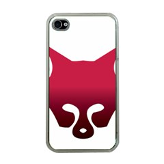 Fox Logo Red Gradient  Apple iPhone 4 Case (Clear)