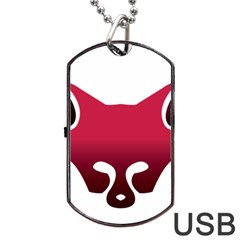 Fox Logo Red Gradient  Dog Tag USB Flash (One Side)
