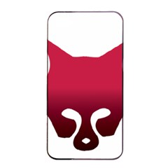 Fox Logo Red Gradient  Apple Iphone 4/4s Seamless Case (black)