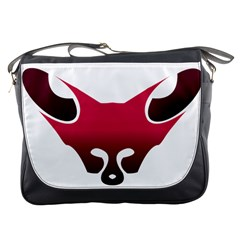 Fox Logo Red Gradient  Messenger Bags