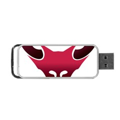 Fox Logo Red Gradient  Portable USB Flash (Two Sides)