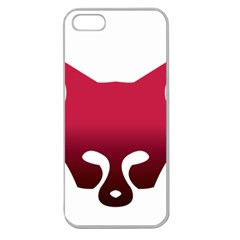 Fox Logo Red Gradient  Apple Seamless iPhone 5 Case (Clear)