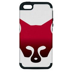 Fox Logo Red Gradient  Apple iPhone 5 Hardshell Case (PC+Silicone)