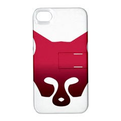 Fox Logo Red Gradient  Apple iPhone 4/4S Hardshell Case with Stand