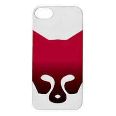 Fox Logo Red Gradient  Apple iPhone 5S Hardshell Case