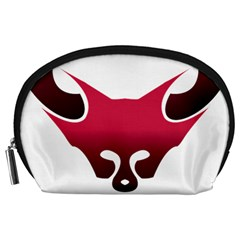 Fox Logo Red Gradient  Accessory Pouches (Large)