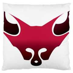 Fox Logo Red Gradient  Standard Flano Cushion Cases (one Side)