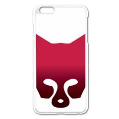 Fox Logo Red Gradient  Apple iPhone 6 Plus/6S Plus Enamel White Case