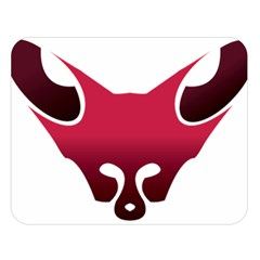 Fox Logo Red Gradient  Double Sided Flano Blanket (Large)