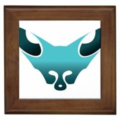 Fox Logo Blue Gradient Framed Tiles
