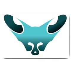 Fox Logo Blue Gradient Large Doormat