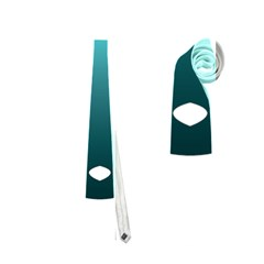 Fox Logo Blue Gradient Neckties (One Side)