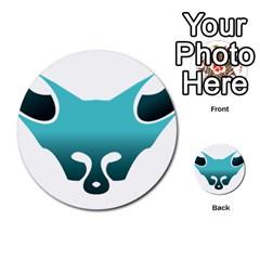 Fox Logo Blue Gradient Multi Purpose Cards (round)