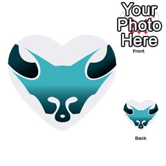 Fox Logo Blue Gradient Multi-purpose Cards (Heart)