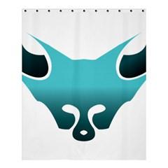 Fox Logo Blue Gradient Shower Curtain 60  X 72  (medium)