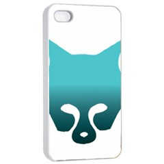 Fox Logo Blue Gradient Apple iPhone 4/4s Seamless Case (White)