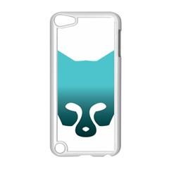 Fox Logo Blue Gradient Apple iPod Touch 5 Case (White)