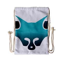Fox Logo Blue Gradient Drawstring Bag (Small)