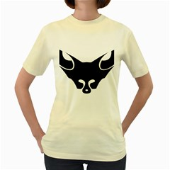 Black Fox Logo Women s Yellow T-Shirt