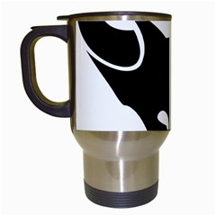Black Fox Logo Travel Mugs (White)