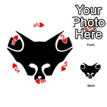 Black Fox Logo Playing Cards 54 (Round)  Front - Heart5