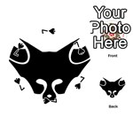 Black Fox Logo Playing Cards 54 (Round)  Front - Spade7