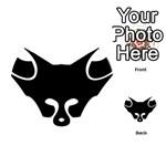 Black Fox Logo Playing Cards 54 (Round)  Back