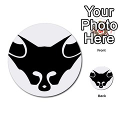 Black Fox Logo Multi-purpose Cards (Round)
