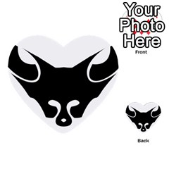 Black Fox Logo Multi Purpose Cards (heart)