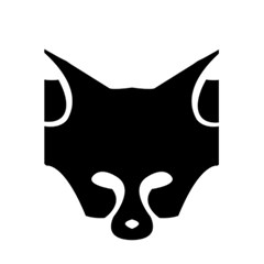 Black Fox Logo 5 5  X 8 5  Notebooks