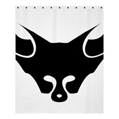 Black Fox Logo Shower Curtain 60  X 72  (medium)