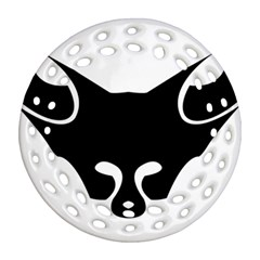 Black Fox Logo Ornament (Round Filigree)