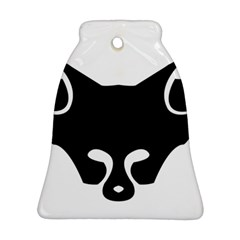 Black Fox Logo Ornament (bell)