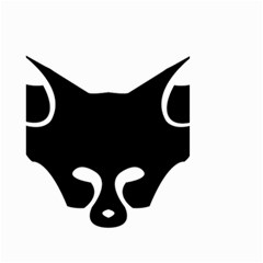 Black Fox Logo Small Garden Flag (two Sides)