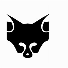 Black Fox Logo Large Garden Flag (Two Sides)