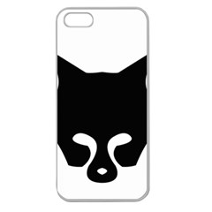 Black Fox Logo Apple Seamless iPhone 5 Case (Clear)