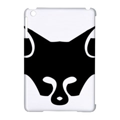 Black Fox Logo Apple Ipad Mini Hardshell Case (compatible With Smart Cover)