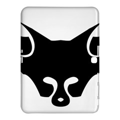 Black Fox Logo Samsung Galaxy Tab 4 (10.1 ) Hardshell Case