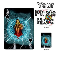 Beautiful Witch With Magical Background Playing Cards 54 Designs