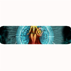 Beautiful Witch With Magical Background Large Bar Mats