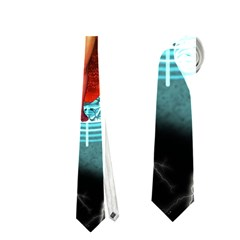 Beautiful Witch With Magical Background Neckties (One Side)