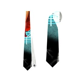 Beautiful Witch With Magical Background Neckties (Two Side)