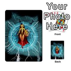 Beautiful Witch With Magical Background Multi Purpose Cards (rectangle)