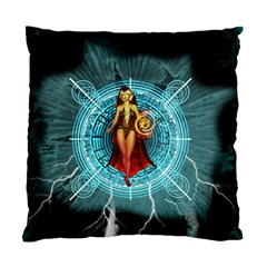 Beautiful Witch With Magical Background Standard Cushion Cases (two Sides)