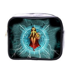 Beautiful Witch With Magical Background Mini Toiletries Bags