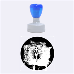 Beautiful Witch With Magical Background Rubber Round Stamps (Medium)