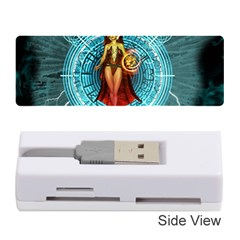 Beautiful Witch With Magical Background Memory Card Reader (Stick)