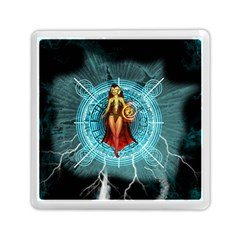 Beautiful Witch With Magical Background Memory Card Reader (Square)