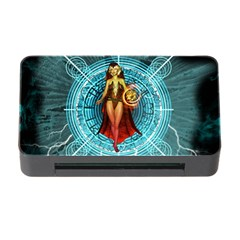 Beautiful Witch With Magical Background Memory Card Reader with CF